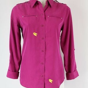 Chicos Pink Button Down Size 0/Small